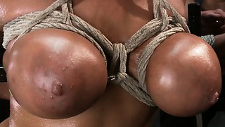 Bound Gangbangs Giant Natural Boobs Get Tied Up Tight